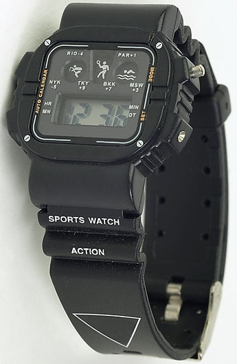 black sports watch
